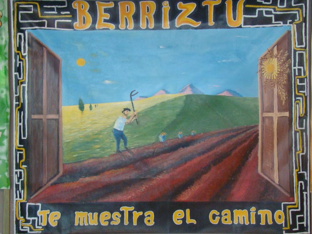 Mural sobre el camino