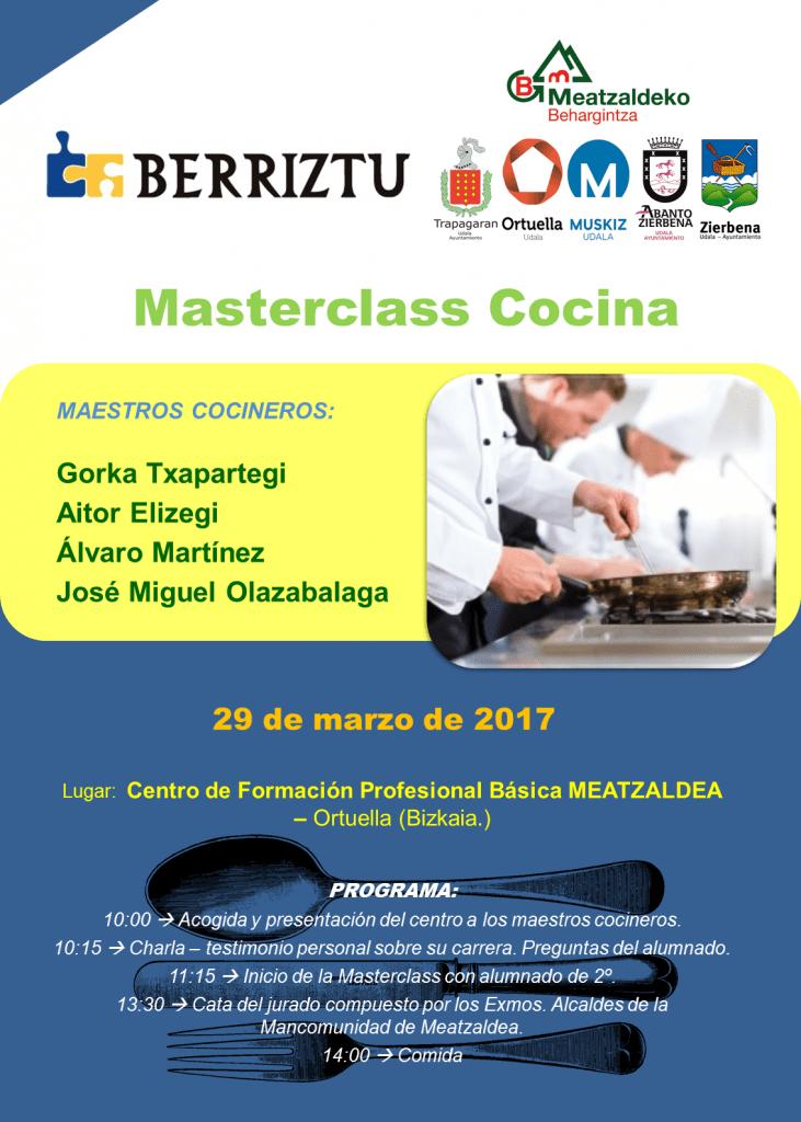Masterclass Cocina CFPB Meatzaldea